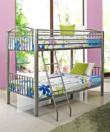 Pewter Twin Bunk Bed