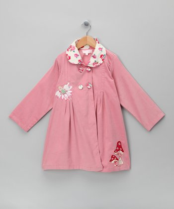 Pink Fairy in the Garden Corduroy Coat - Infant, Toddler & Girls