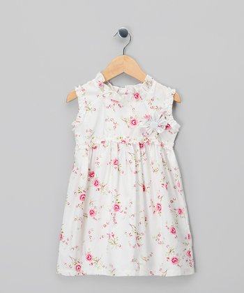 White Rose Dress - Infant, Toddler & Girls