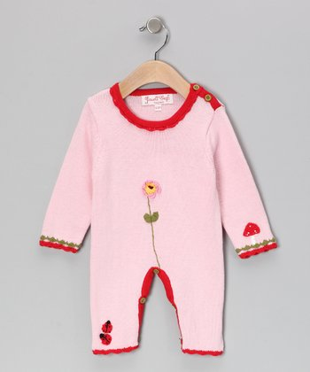 Pink Enchanted Forest Long-Sleeve Playsuit - Infant