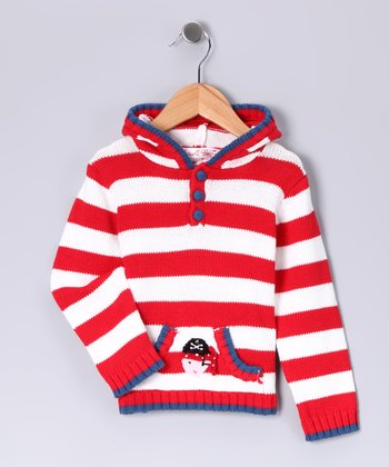 Red Stripe Pirate Hoodie - Infant, Toddler & Kids