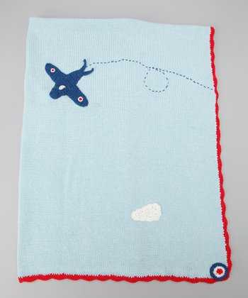 Light Blue Plane Blanket