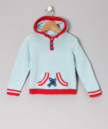 Light Blue Plane Hoodie - Infant, Toddler & Boys