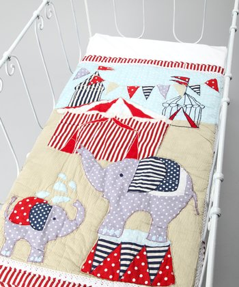 Red & Blue Stripe Circus Quilt