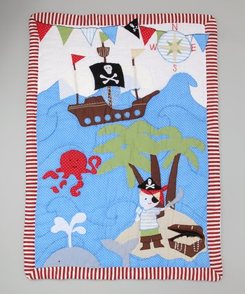 Blue & Brown Pirate Quilt