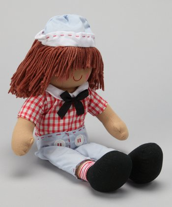 Red Gingham Boy Doll