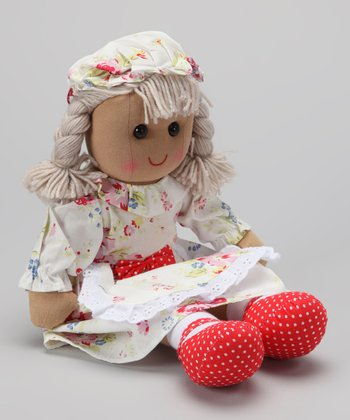 White Floral Dress Doll