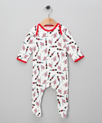 White Soldier Footie - Infant
