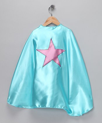 Aqua & Bubble Gum Pink Star Cape