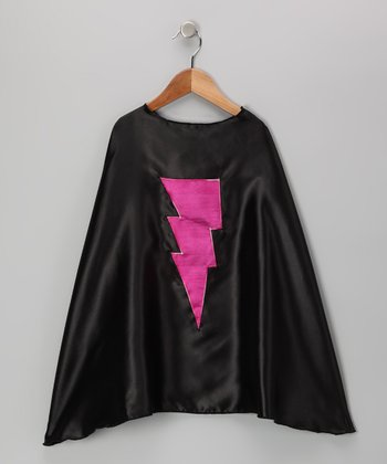 Black & Fuchsia Lightning Cape