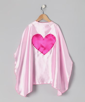 Light Pink & Fuchsia Heart Cape