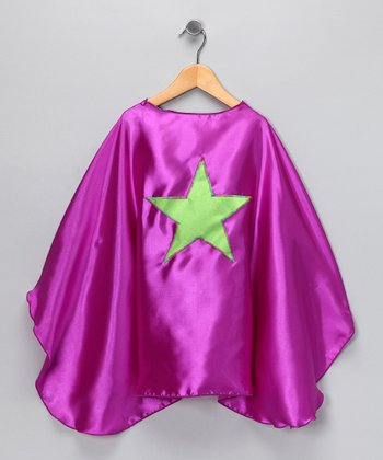 Orchid & Lime Green Star Cape