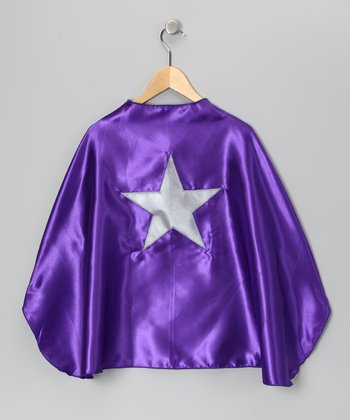 Purple & Silver Star Cape