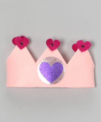 Light Pink Heart Crown