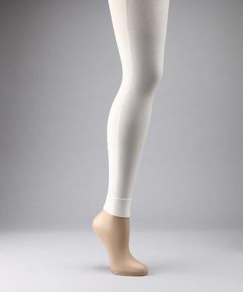 Preggers Winter White Maternity Compression Footless Tights