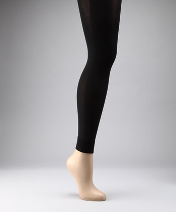 Preggers Black Maternity Compression Footless Tights