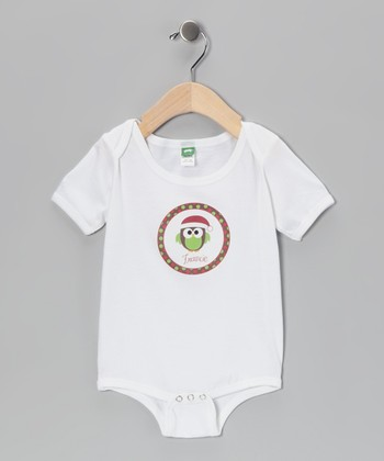 Red & Brown Owl Personalized Bodysuit - Infant