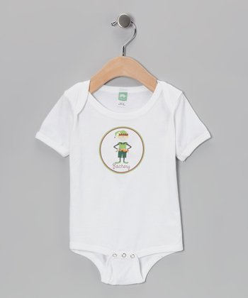 Blonde-Haired Boy Elf Personalized Bodysuit - Infant