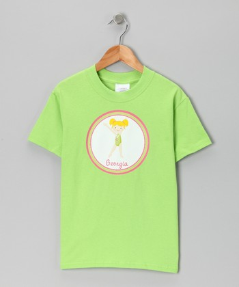 Lime Blonde Gymnast Personalized Tee - Infant, Toddler & Girls