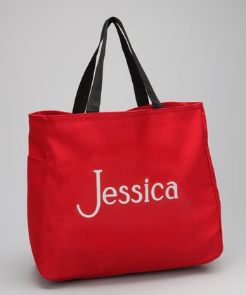 Red Personalized Tote