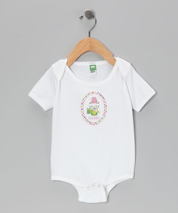 Pink & Green Owl Personalized Bodysuit - Infant