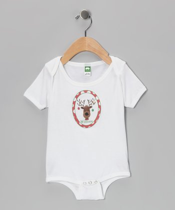 Red Reindeer Personalized Bodysuit - Infant