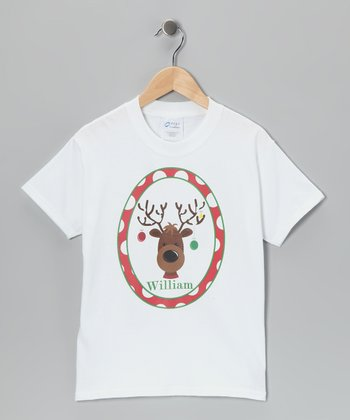Red Reindeer Personalized Tee - Infant, Toddler & Kids