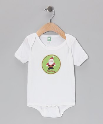 Green Santa Personalized Bodysuit - Infant