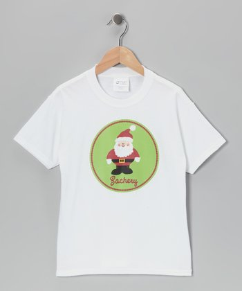 Green Santa Personalized Tee - Infant, Toddler & Kids