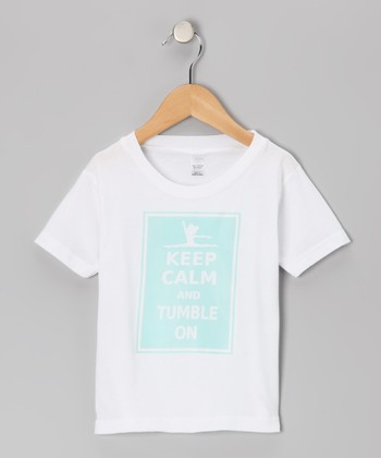 White & Blue 'Keep Calm' Tee - Infant, Toddler & Girls