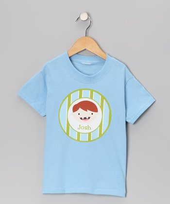 Blue Red-Haired Tooth Fairy Personalized Tee - Toddler & Boys