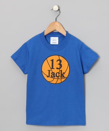 Blue Basketball Personalized Tee - Infant, Toddler & Kids