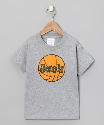 Gray Camo Basketball Personalized Tee - Infant, Toddler & Kids