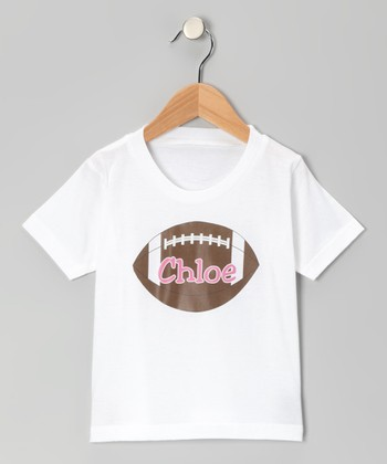 Pink Football Personalized Tee - Infant, Toddler & Kids