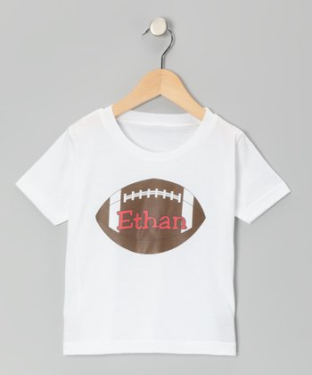 Red Football Personalized Tee - Infant, Toddler & Kids