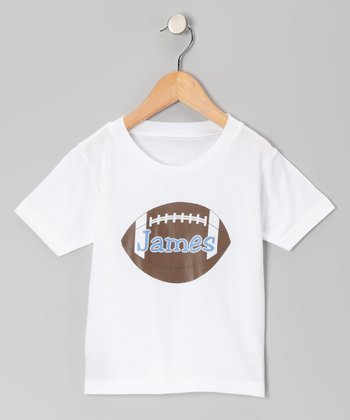 Blue Football Personalized Tee - Infant, Toddler & Kids