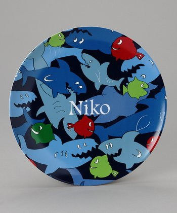 Blue Shark Personalized Plate