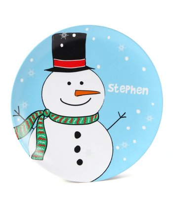 Blue Frosty Personalized Plate