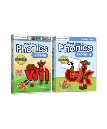 Phonics Digraphs DVD & Flash Cards