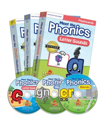 Meet the Phonics DVD & Flash Card Set
