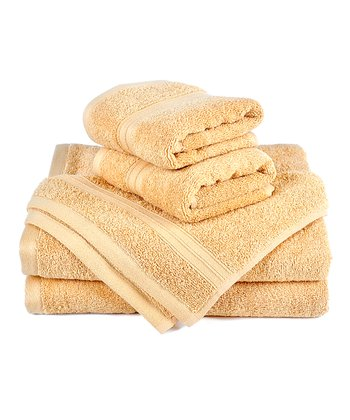 Wheat Regenerated Six-Piece Towel Set