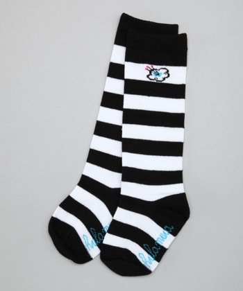Black Stripe Knee-High Socks