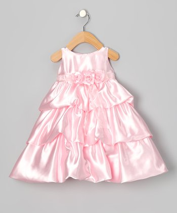 Pink Flower Tiered Dress - Infant & Toddler
