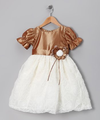 Bronze & Ivory Princess Dress - Toddler & Girls