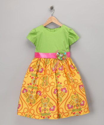 Yellow Abroad Dress - Toddler & Girls