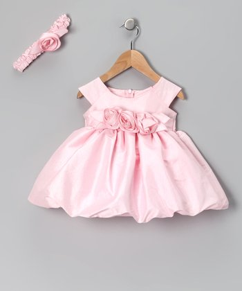 Pink Bubble Dress & Headband - Infant & Toddler