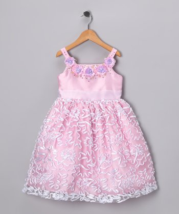 Pink Floral Royal Dress - Toddler & Girls