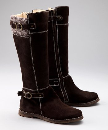 Brown Suede Lizbeth Boot
