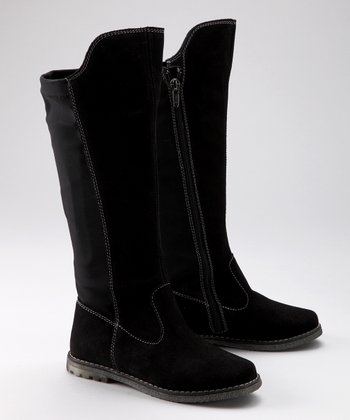 Black Suede Livia Boot