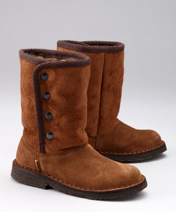 Brown Suede Juci Boot